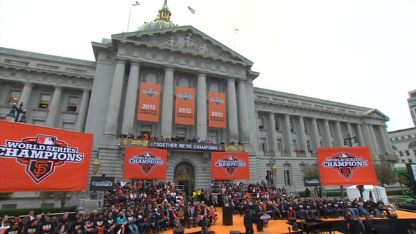 SF Giants World Series celebration at Civic...