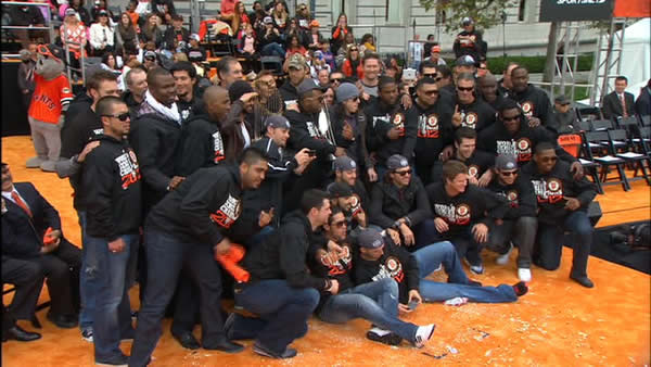 SF Giants World Series celebration at Civic Center Plaza