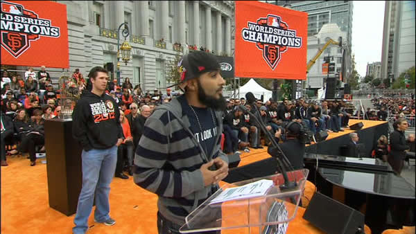 "<div class=""meta ""><span class=""caption-text ""> SF Giants World Series celebration at Civic Center Plaza  (KGO)</span></div>"