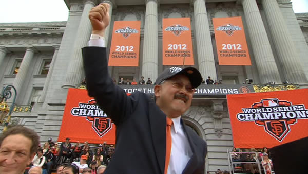Mayor Ed Lee at the SF Giants World Series celebration at Civic Center Plaza <span class=meta>(KGO)</span>