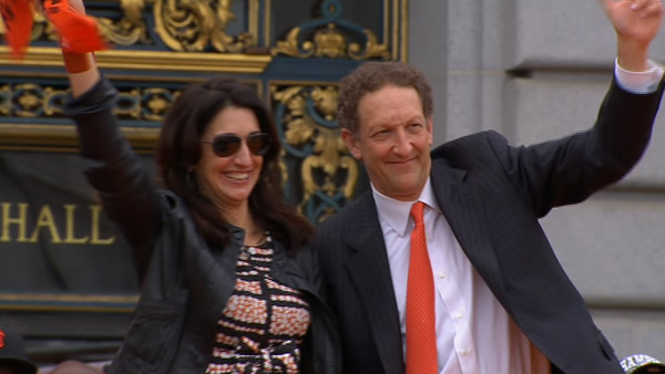 Larry Baer at the SF Giants World Series celebration at Civic Center Plaza <span class=meta>(KGO)</span>