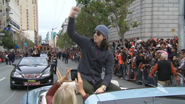 SF Giants World Series celebration at Civic Center Plaza <span class=meta>(KGO)</span>