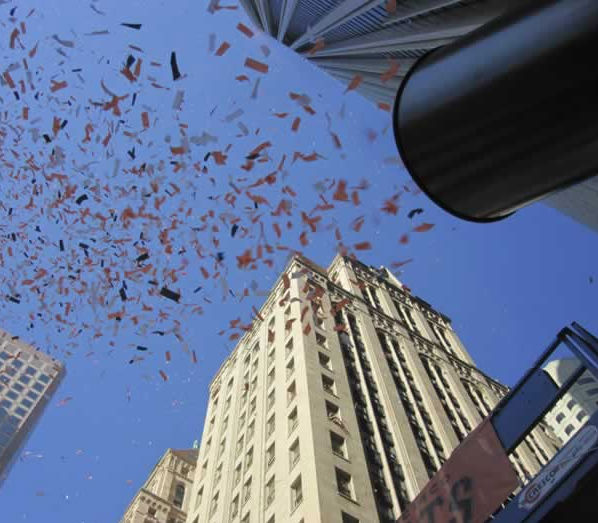 Photos of the San Francisco Giants celebrating their World Series victory with a parade in downtown.  (Photo submitted by Tina Cheng via uReport)