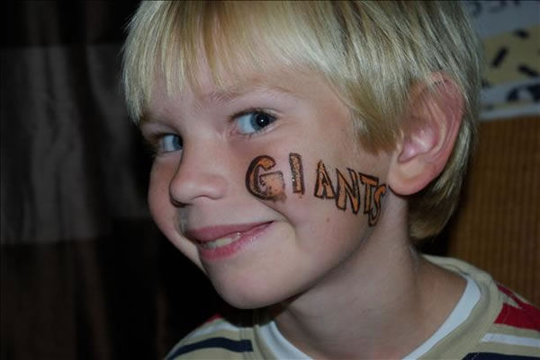 Giants fans share their World Series fever!  (Photo submitted by Andrea via uReport)