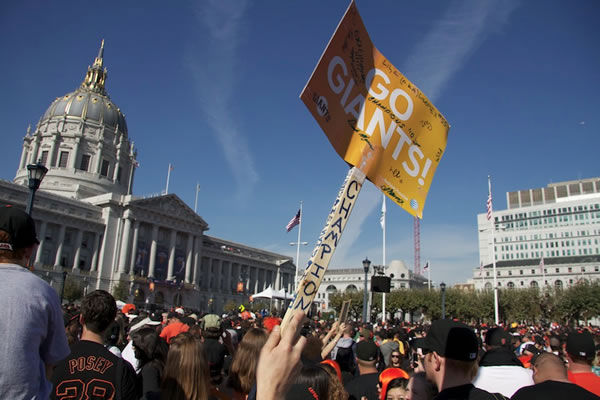 "<div class=""meta image-caption""><div class=""origin-logo origin-image ""><span></span></div><span class=""caption-text"">Photos of the San Francisco Giants celebrating their World Series victory with a parade in downtown.  (Photo submitted by Gina Galindo via uReport) </span></div>"