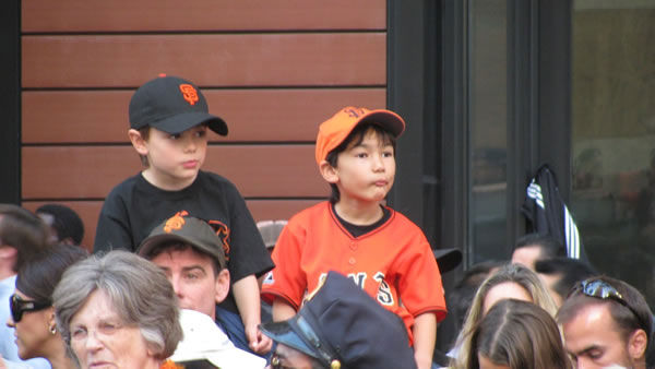 Photos of the San Francisco Giants celebrating their World Series victory with a parade in downtown.  (Photo submitted by John Marez via uReport)