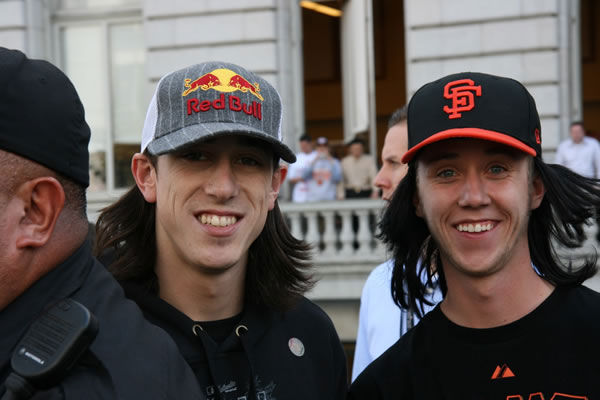 Photos of the San Francisco Giants celebrating their World Series victory with a parade in downtown.  (Photo submitted by Mike Awve via uReport)