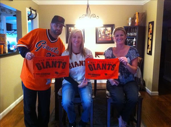 Giants fans share their World Series fever!  (Photo submitted by Sharon via uReport)
