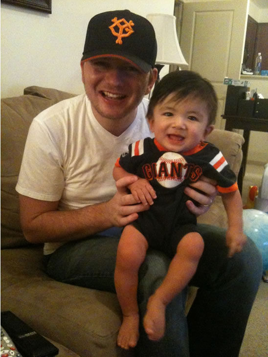 Giants fans share their World Series fever! (Photo submitted by Nate)