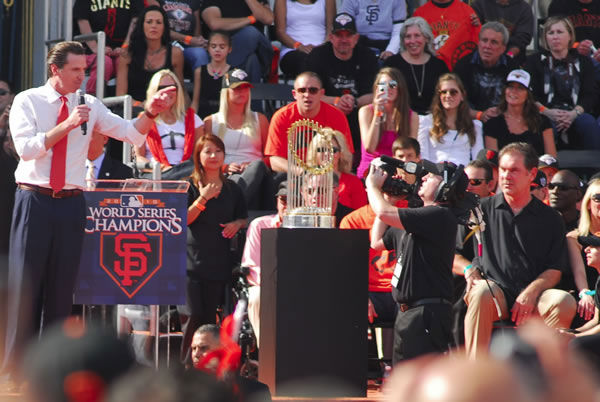 Photos of the San Francisco Giants celebrating their World Series victory with a parade in downtown.  (Photo submitted by Raymond Centeno via uReport)
