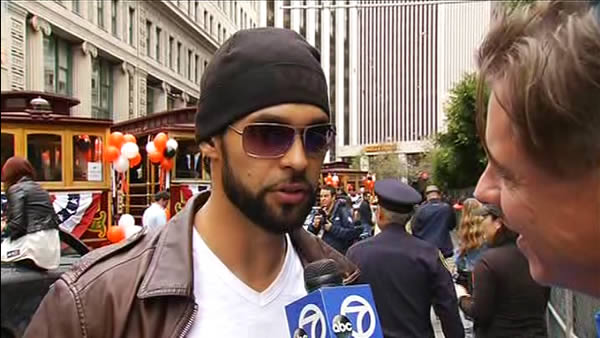 Angel Pagan at the SF Giants World Series parade <span class=meta>(KGO)</span>