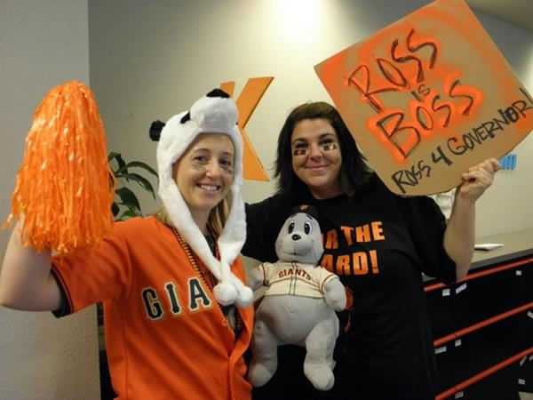 Giants fans share their World Series fever!  (Photo submitted by Theresa via Twitter)