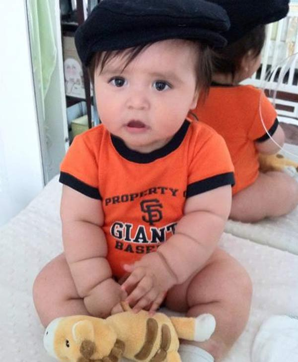 Baby giants fan - wishing the giants luck from San Pedro, CA (Photo submitted via uReport)