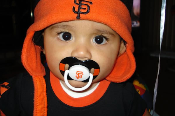 My son Xavier bringing good luck to the team!  (Photo submitted by via uReport)