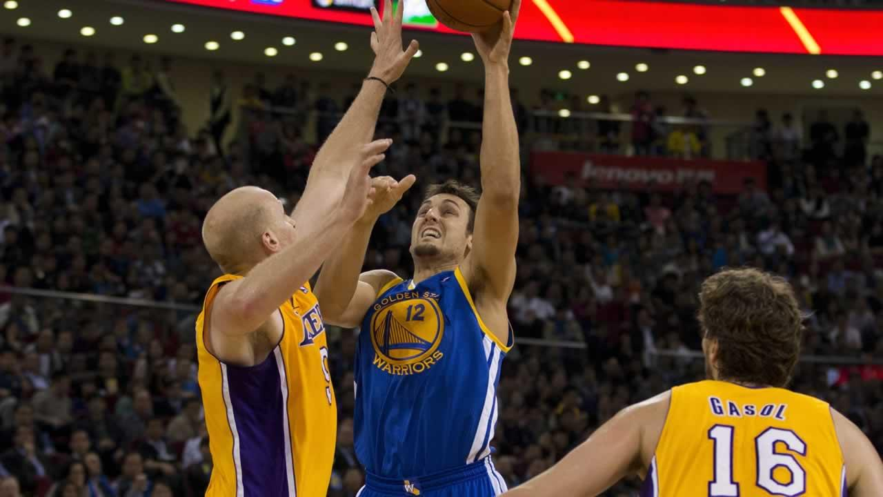 Andrew Bogut of the Golden State Warriors.