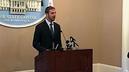 San Francisco 49er quarterback Alex Smith went to the state capitol