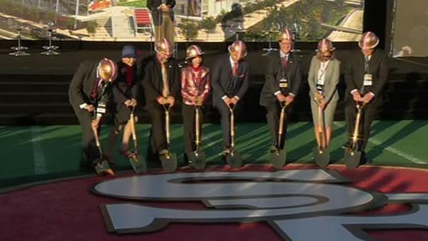 49ers break ground on Santa Clara stadium