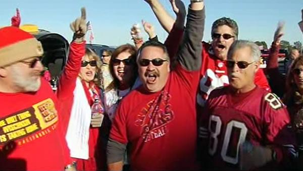 Fans face frigid weather to watch Niners game