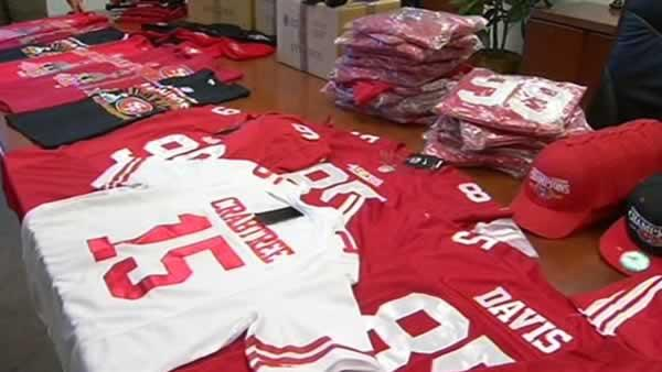 Feds seize fake NFL gear ahead of Super Bowl