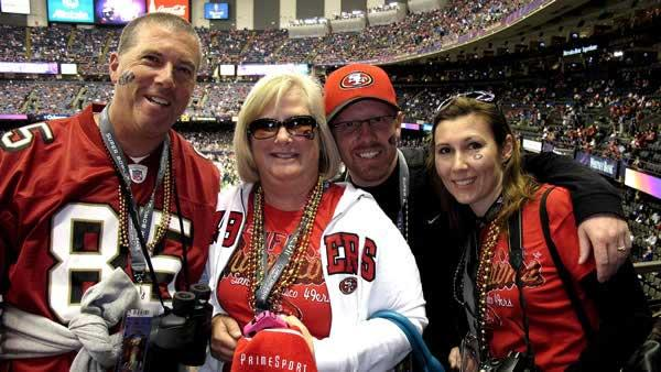 49ers fans at the Superdome