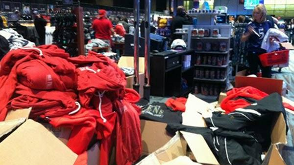 Everything in the NFL store in New Orleans is now 75 percent off.