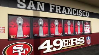 San Francisco 49ers 5-time Super Bowl champions mural
