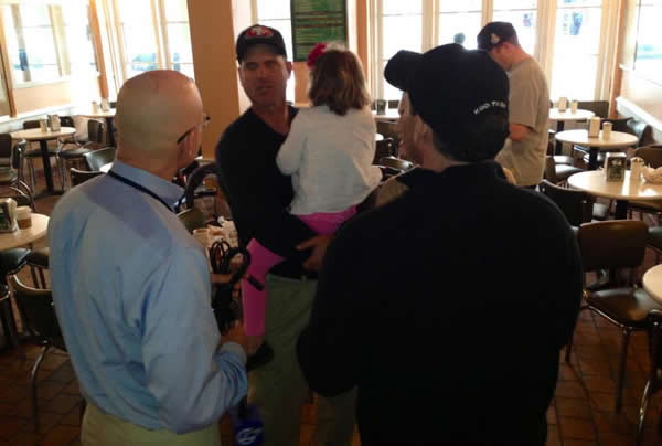 The ABC7 News team ran into Coach Jim Harbaugh at Cafe Du Monde in the French Quarter.  Are you a 49ers fan? Send us a photo or video of your 49ers spirit to uReport@kgo-tv.com and we'll post it here: http://bit.ly/WxySUx.
