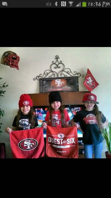 "<div class=""meta ""><span class=""caption-text "">No shortage of 49er pride here in the Bay Area!  Keep sending your photos to uReport@kgo-tv.com and we may show them off on air! (KGO Photo/ photo submitted via Facebook)</span></div>"