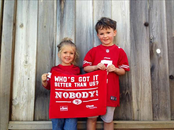 "<div class=""meta ""><span class=""caption-text "">Thanks for showing off your Niner pride! Keep emailing your photos to uReport@kgo-tv.com and we might share them on TV! (KGO Photo/ photo submitted via uReport)</span></div>"
