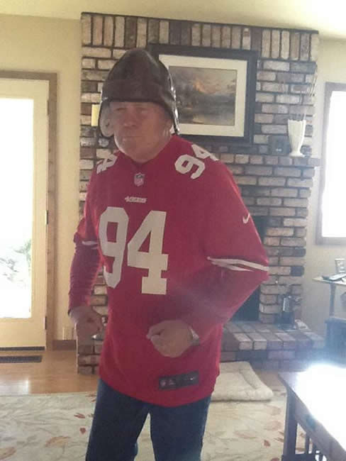 The 49ers are heading to the NFC Championship game and have lots of support from fans!  Show us your game faces!  Email pics to ureport@kgo-tv.com <span class=meta>(KGO Photo&#47; photo submitted via Facebook)</span>