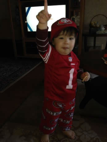 "<div class=""meta ""><span class=""caption-text "">The 49ers are heading to the NFC Championship game and have lots of support from fans!  Show us your game faces!  Email pics to ureport@kgo-tv.com (KGO Photo/ photo submitted via uReport)</span></div>"