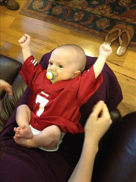 The 49ers are heading to the NFC Championship game and have lots of support from fans!  Show us your game faces!  Email pics to ureport@kgo-tv.com <span class=meta>(KGO Photo&#47; photo submitted via uReport)</span>