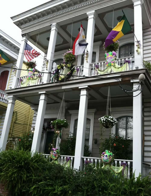 Homes decked out for Mardi Gras on Esplanade Ave. @abc7newsBayArea #NOLA
