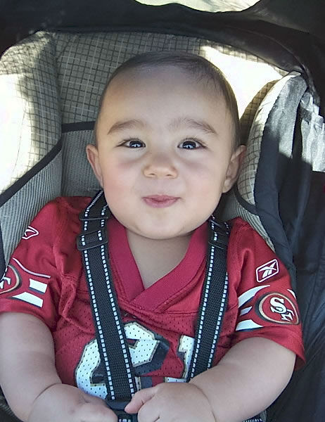 This is our son MJ enjoying his first ever training camp a few years back. Go Niners! <span class=meta>(Submitted via uReport)</span>