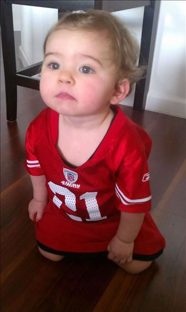 "<div class=""meta image-caption""><div class=""origin-logo origin-image ""><span></span></div><span class=""caption-text"">Maddie, the Niners biggest fan! (Submitted via uReport)</span></div>"