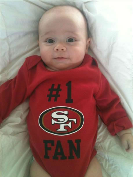 My nephew, a 3 month old 49ers fan living in San Diego <span class=meta>(Submitted via uReport)</span>
