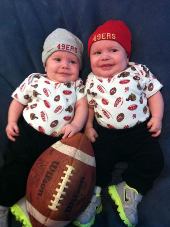 Our 3 month old twins getting excited to see their heroes on TV   <span class=meta>(Submitted by AThornton via uReport)</span>