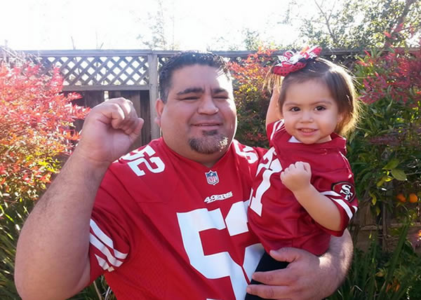 "<div class=""meta ""><span class=""caption-text ""> Thanks for showing off your Niner pride! Keep emailing your photos to uReport@kgo-tv.com and we might share them on TV! (Photo submitted via Facebook by Marina Sanchez)</span></div>"