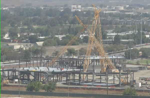 View of the 49er stadium construction from Great America on August 11, 2012.