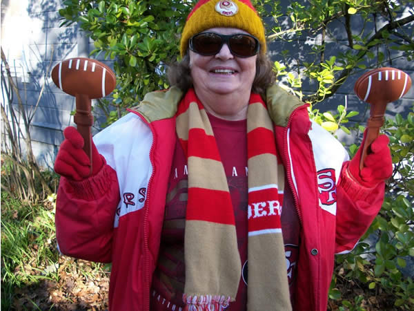 A die-hard 49ers fan from Glen Ellen, California! (Photo submitted by Linda W. via Facebook)