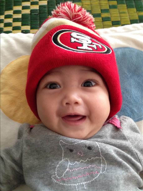 "<div class=""meta ""><span class=""caption-text "">The Bay Area has a lot of love for the 49ers!  Keep emailing your best photos to uReport@kgo-tv.com! (KGO Photo/ photo submitted via uReport)</span></div>"