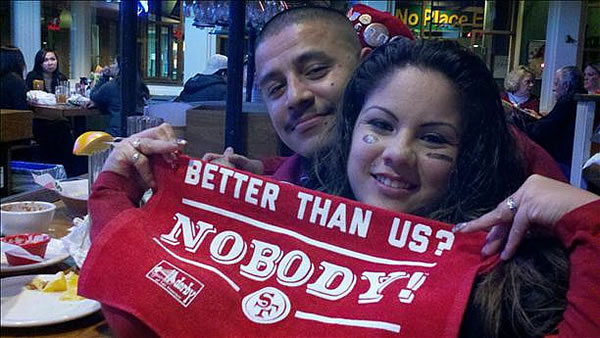 Submitted via uReport.  Are you a 49ers fan? Send us a photo or video of your 49ers spirit to uReport@kgo-tv.com and we'll post it here: http://bit.ly/WxySUx.