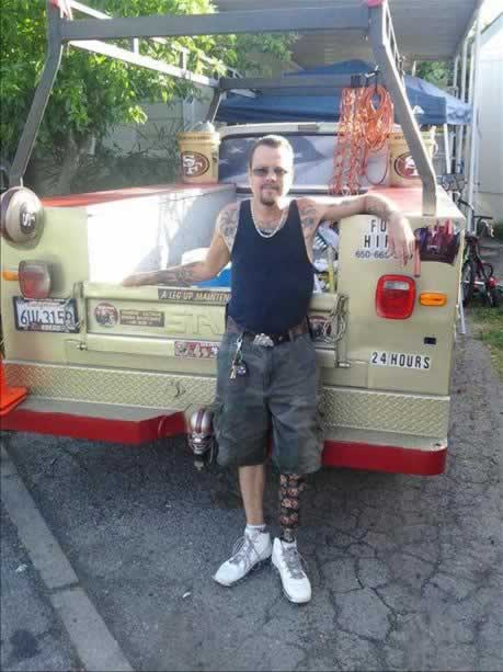 49ers truck from The Handyman out of Mountain View (Photo submitted via uReport)