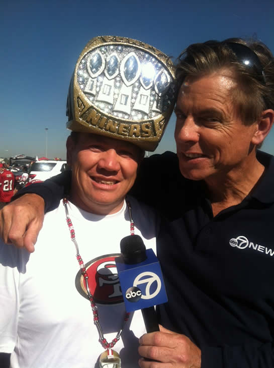 It&#39;s 49ers day all day at ABC7 News. Check out behind the scenes photos! <span class=meta>(KGO)</span>