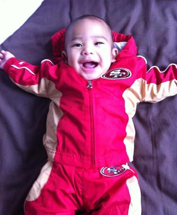 Mason is a 3-month-old baby who loves the 49ers (Photo submitted via uReport)