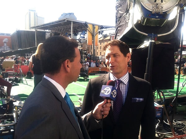 @LarryBeilABC7 interviews Steve Young!