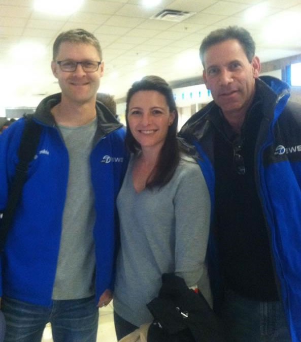 Colin, Katie and Larry waiting for their flight out to New Orleans.