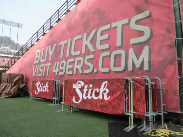 With the 49ers set to play their last game at Candlestick Park, the San Francisco Recreation and Parks Department opened the doors for one last behind-the-scenes look, December 17, 2013. <span class=meta>(KGO Photo)</span>