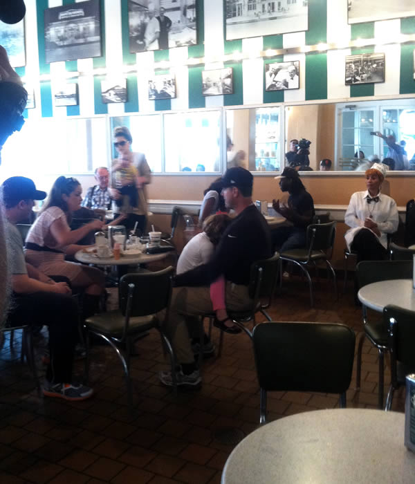 The ABC7 News team ran into San Francisco 49ers Coach Jim Harbaugh and his family at Cafe Du Monde in the French Quarter.  Are you a 49ers fan? Send us a photo or video of your 49ers spirit to uReport@kgo-tv.com and we'll post it here: http://bit.ly/WxySUx.