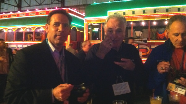 ABC7's Larry Beil and Mike Shumann enjoying a taste of New Orleans!